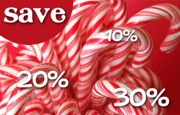 Sale day candy cane
